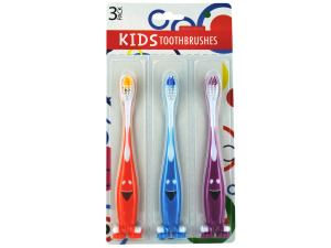 Fun kids toothbrush set