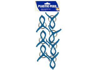 14pc blue plastic pegs