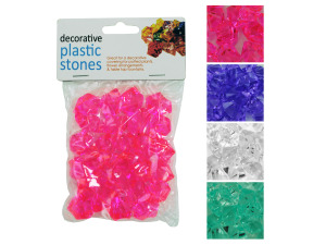 Plastic decorative rocks