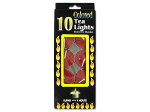 Colored tea lights