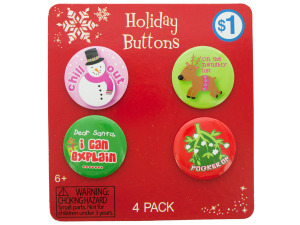 Holiday Buttons Set