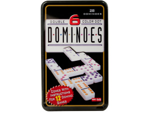Wholesale: Double-Six Color Dot Dominoes Game Set