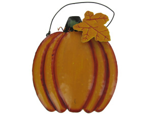 Hanging tin pumpkin