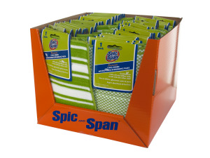 Spic and Span Two-Sided Microfiber/Scrubbing Pads Counter Top Di