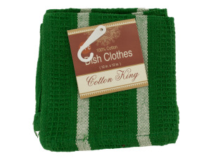 Cotton Striped Dish Cloths Set
