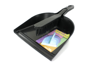 Dust pan and hand sweeper set