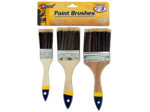 Paint brushes, pack of 3