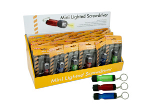 Lighted screwdriver key chain display