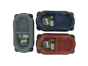 Two-section pet dish