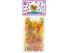 1000 piece small rubber hair bands assorted colors
