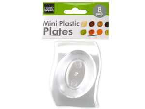 8 pack mini plastic condiment plates