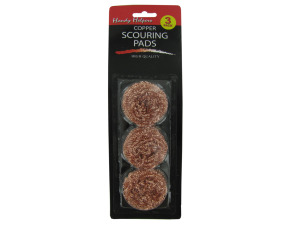 Copper scouring pads, package of 3