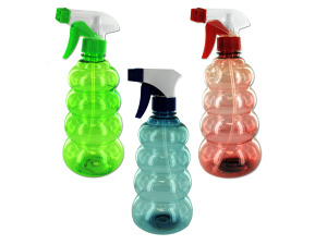 Tornado-shaped spray bottle