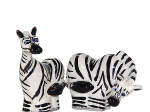 Wholesale: Safari Zebras Salt & Pepper Shakers Set
