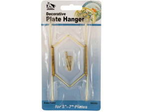 Small Brass-Plated Decorative Plate Hanger