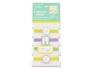 Baby favor box ribbons
