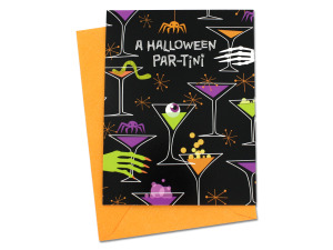 "Halloween ""Par-Tini"" invitations"