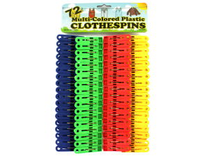 Plastic clothespin set