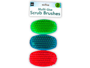 Multi-use scrub brushes