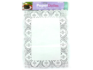 Paper doilies, rectangles, pack of 10