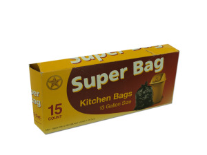 Super bag kitchen bags, 13 gallon