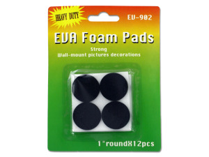 Adhesive foam pads, pack of 12