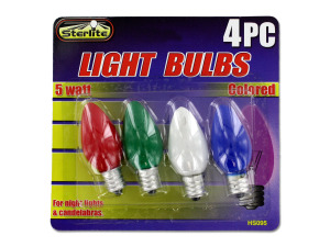 5 Watt colored light bulbs