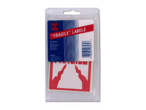 20 pack 3 x 5 pre-printed fragile labels