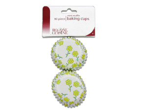 bulk buys Miniature baking cups with flower design (Pack of 24)