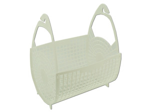 Peg basket for clothesline