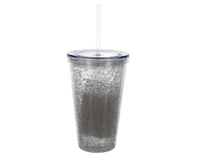 16 oz clear cup with straw