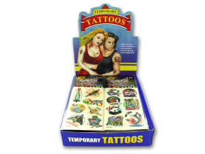 black and white assorted tattoos (96 pc display)