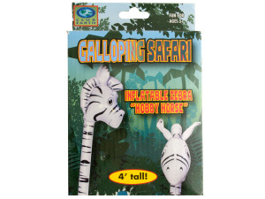 Galloping Safari Inflatable Zebra Hobby Horse