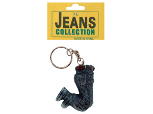 Resin jeans key chain