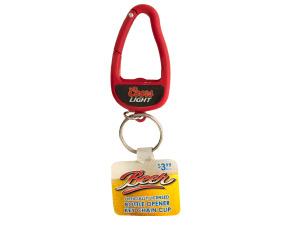 Coors Lite Bottle Opener Carabiner Keychain