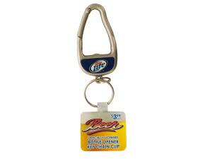 Miller Lite Bottle Opener Carabiner Keychain