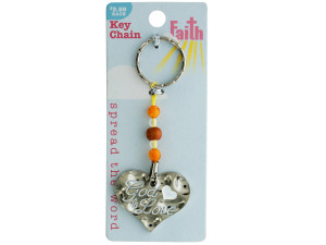 Religious Keychain with Beads