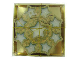 Golded stars candle