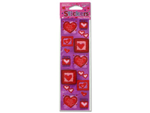 Wholesale: Stickers hearts one sheet