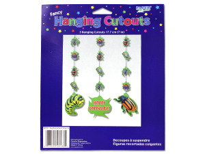 Bug theme dangling party cut-outs