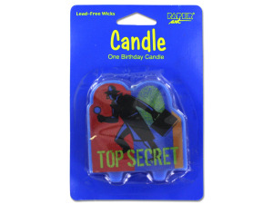 Top secret birthday candle