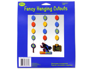 fancy hanging cutouts 3 hanging cutouts per pack 7 in l