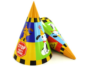 Rescue Pals party hats, pack of 8