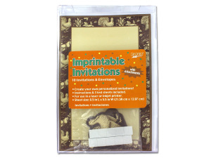 Imprintable invitations with envelopes, Thanksgiving theme, pack