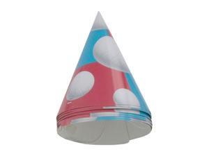 Volleyball party hats, 8 count