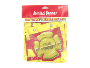Fire-theme jointed birthday banner