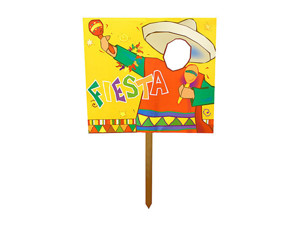 Fiesta Photo Cutout Two Sided