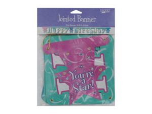 """Happy Birthday"" jointed banner for girls"