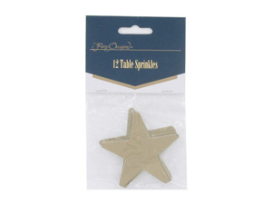 Wholesale: Gold star table sprinkles, pack of 12