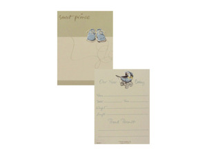 """Sweet Prince"" birth announcements, pack of 8"